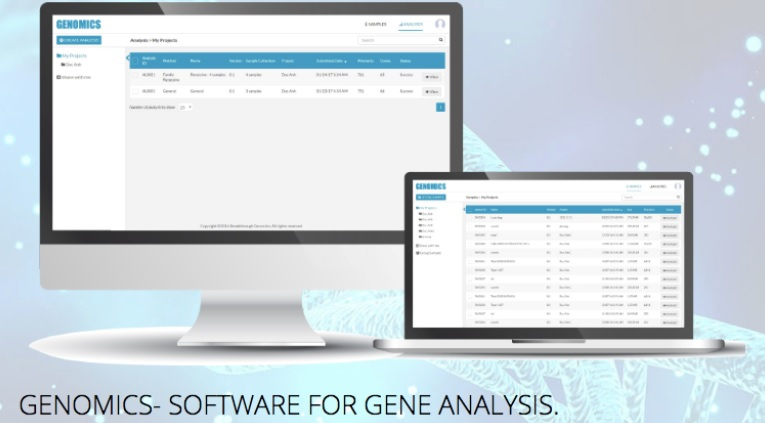 Genomic big data software to gene.