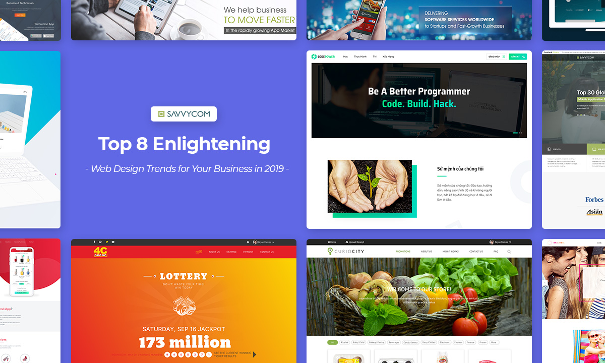 top web design trends 2019 by savvycom