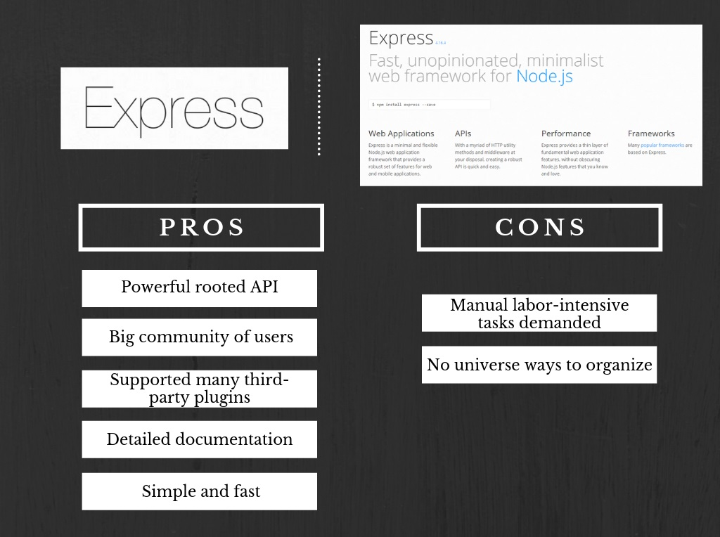 The Best Node js Framework: Koa VS Express VS Hapi [Comparison]